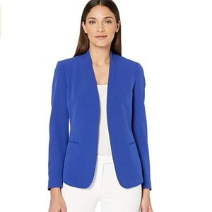 NWT Anne Klein Women's Crepe Blue Cardigan Jacket
